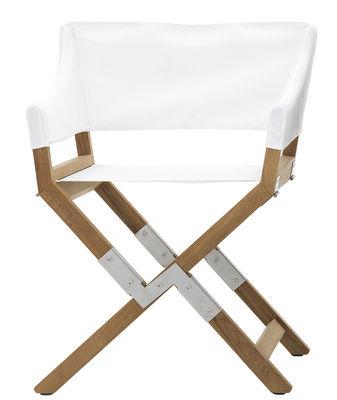 fauteuil pliant sundance outdoor tissu bois de padova