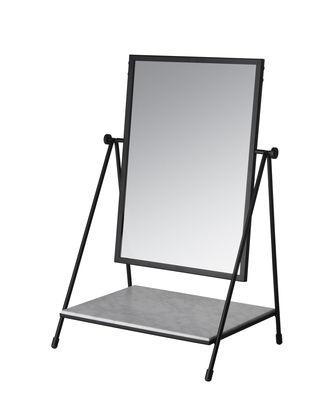 miroir a poser table mirror reedition annees 50 marbre acier fritz hansen