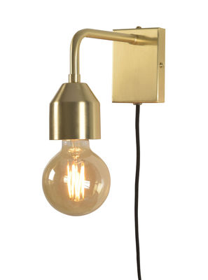 It S About Romi Madrid Small Wall Light With Plug Gold Metal Made In Design Uk