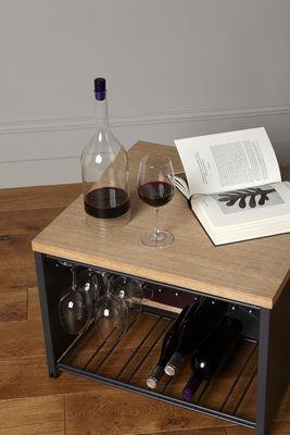 table basse petit bar racks pour verres et bouteilles 57 x 57 x h 40 cm l atelier du vin