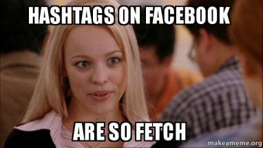 Photo, Facebook hashtags