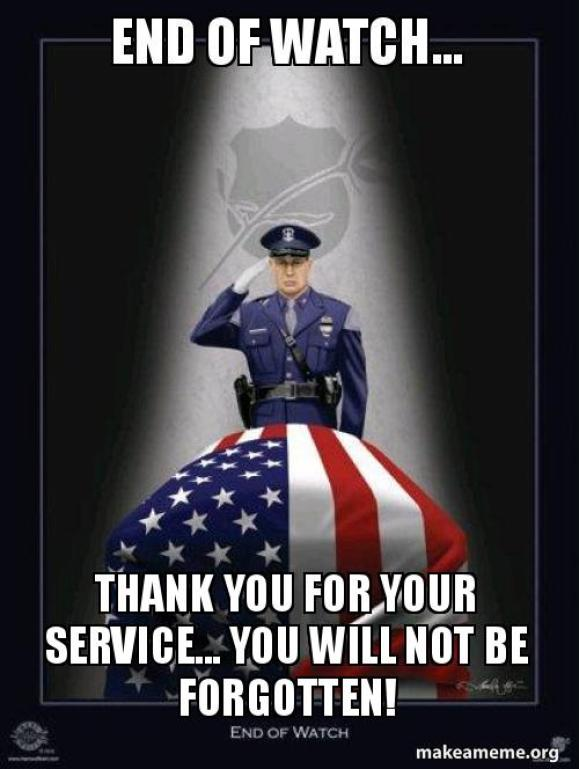 THANK YOU FOR YOUR SERVICE... YOU WILL NOT BE FORGOTTEN! | Make a Meme