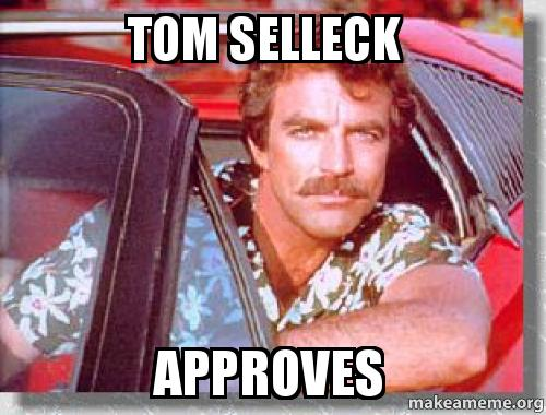 Tom Selleck'Son approves
