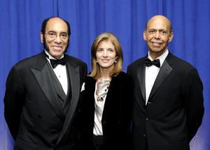 UNCF President Michael Lomax honors Black Enterprise publisher Earl G. Graves Sr. and education activist Caroline Kennedy