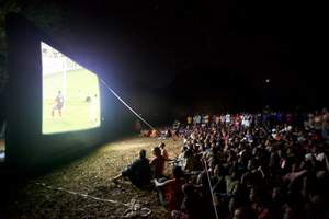 Remote Kenyan Village Sees World Cup Finals On Open Air