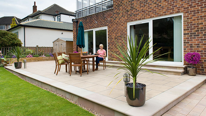 how to lay a patio on concrete laying