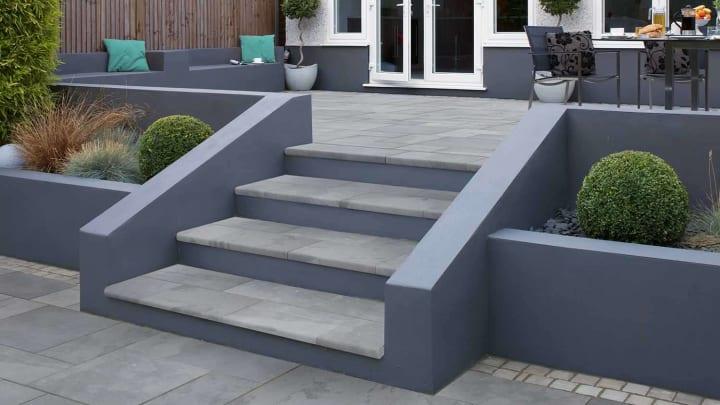 garden patio steps natural stone