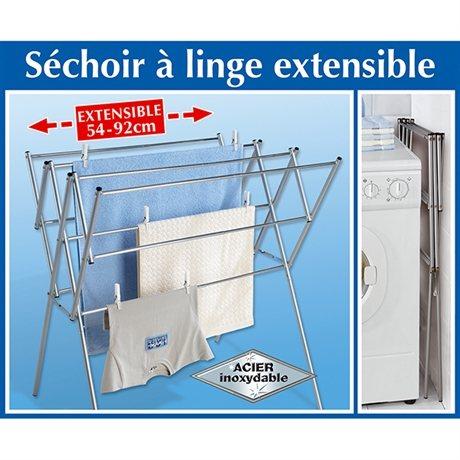 Sechoir A Linge Extensible En Acier Inoxydable Mathon Fr