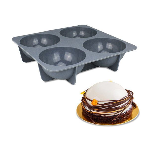 moule 4 demi spheres silicone 11 5 cm