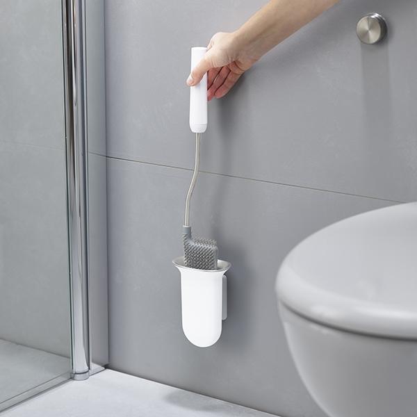 brosse toilettes avec support mural