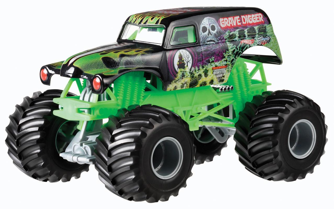 Hot Wheels Monster Jam Grave Digger Truck Shop Hot