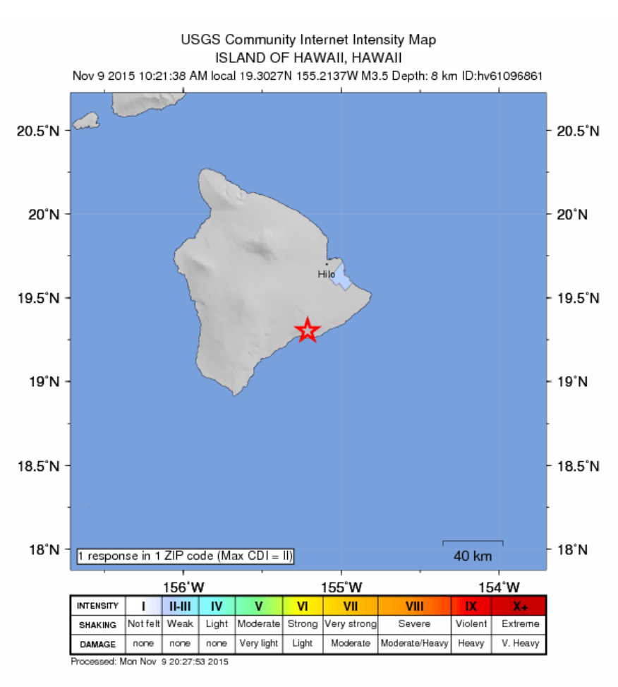 Hawaii, constituent state of the united states of america. No Advisories After 3.5 Hawai'i Island Quake | Maui Now