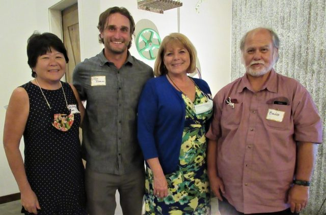 Maui Economic Opportunity received a grant from the Construction Industry of Maui. Shown following the presentation of the $1,500 check are (from left): Gay Sibonga, MEO COO; Josh Berlien, chairman of the Construction Industry of Maui; Debbie Cabebe, MEO CEO; and Bishop Pahia, who leads the BEST (Being Empowered and Safe Together) program that helps recently released inmates reintegrate into the community (Courtesy Photo)