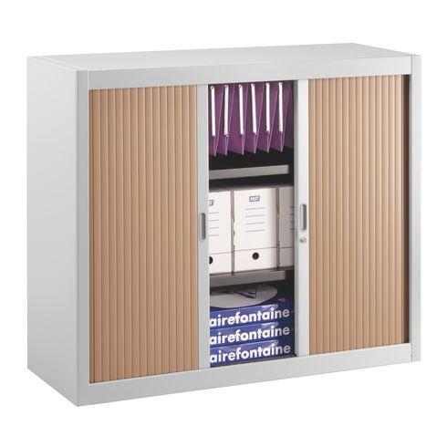 armoire basse a rideaux demontables decor 100 x 120 cm corps aluminium
