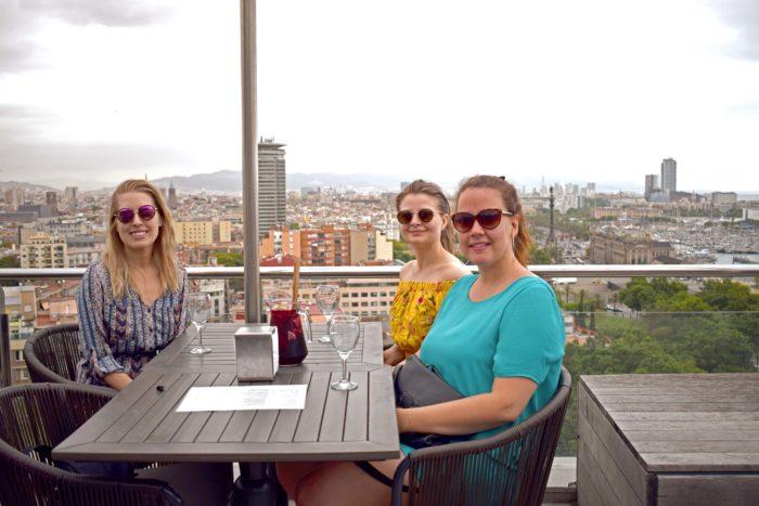 restaurangen på Mount Montjuïc