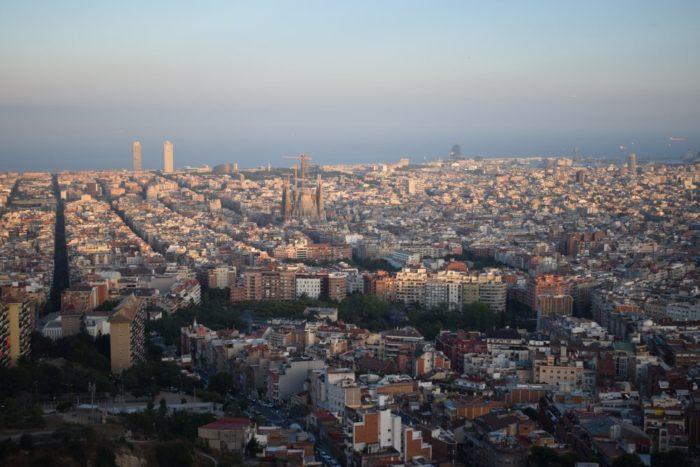 utsikt över barcelona från bunker del carmel