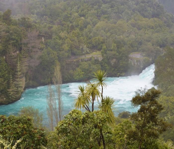 Tidig morgon i Huka Falls