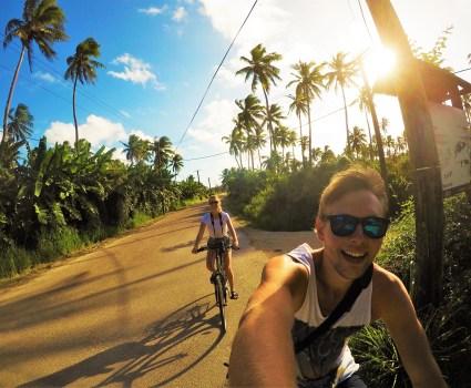 Cykeltur till Tongatapu's nordligaste punkt