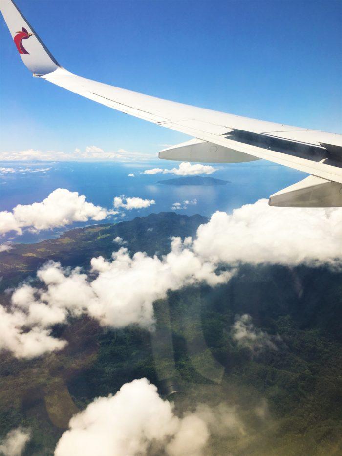 utsikt från flygplan över filippinerna