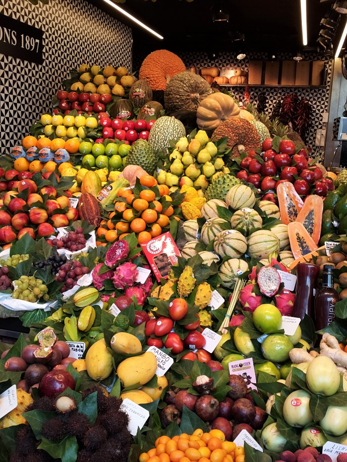 frukter på la bouqeria mercat