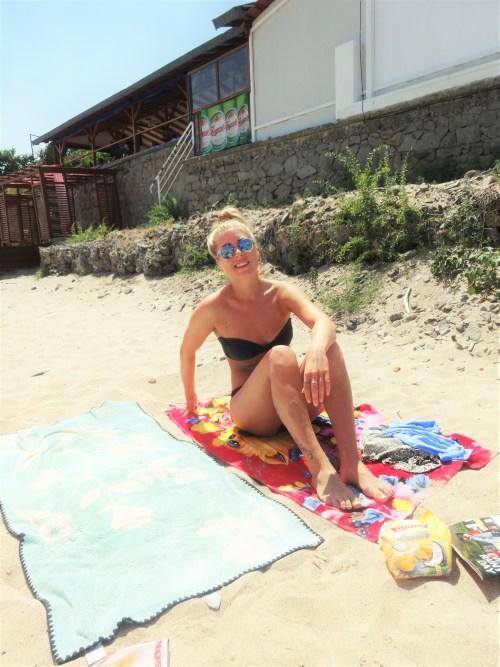 jag på stranden i sozopol