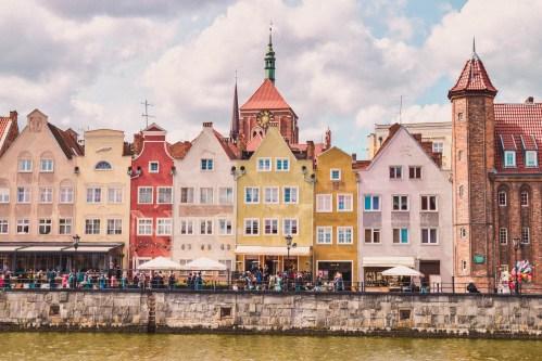 gdansk hamns stadssiluett
