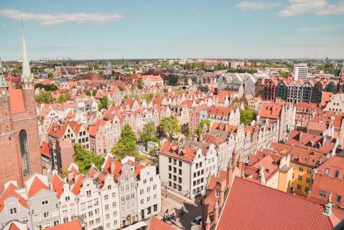 utsikt över centrala gdansk