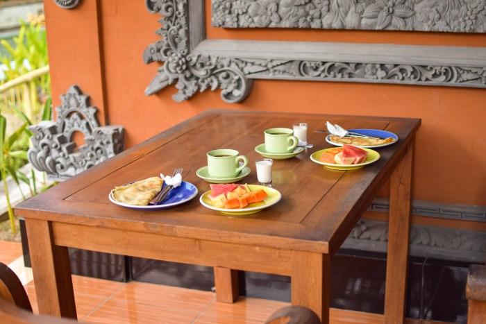frukost på sayong house i ubud