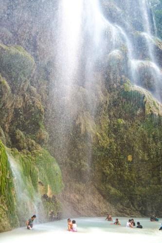 tumalog falls vattenfall på cebu