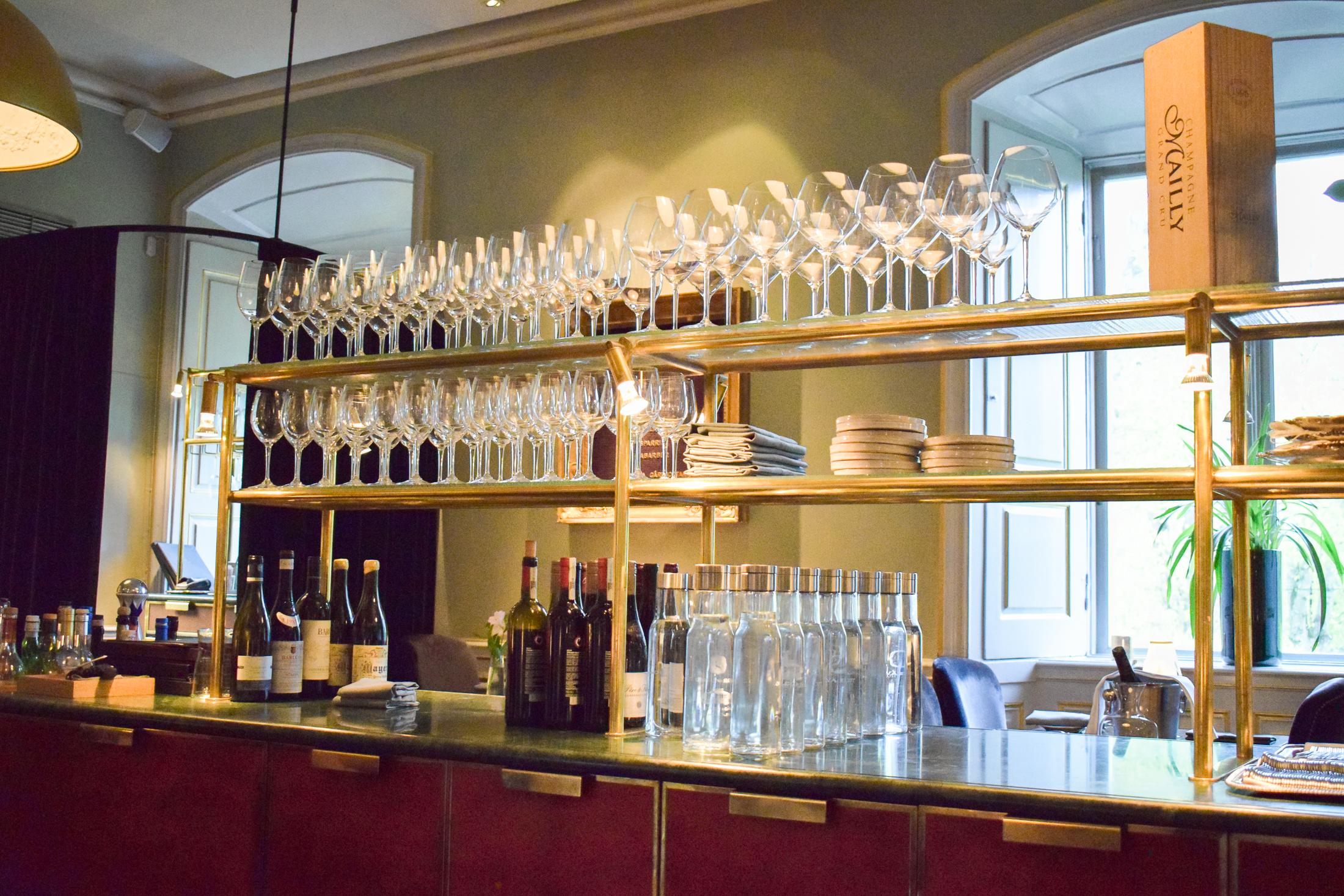 restaurang galleriet på Görvälns slott.