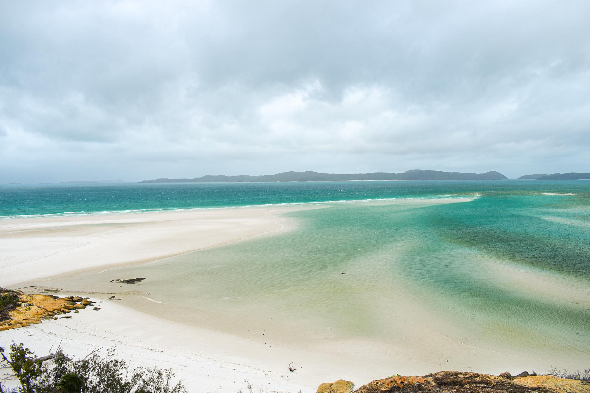 North whitehaven beach på whitsunday islands.