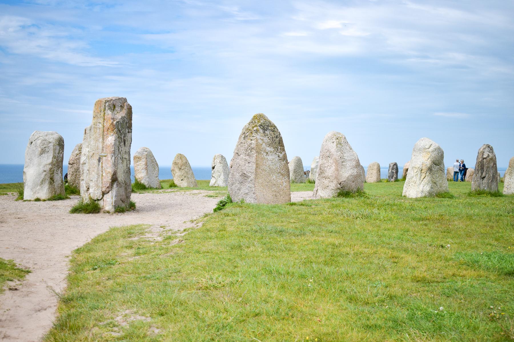 Ales stenar på Österlen.