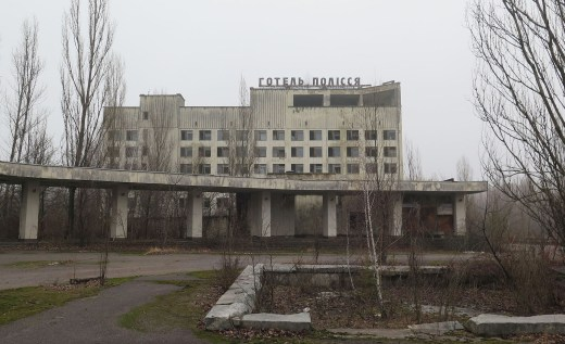 The hotel Polesye remains abandoned in Pripyat, Ukraine. Once seen as a shining example of the future of the Soviet Union, the town was abandoned after the accident at the nuclear power plant it was built to serve. // Claudia Himmelreich / McClatchy
