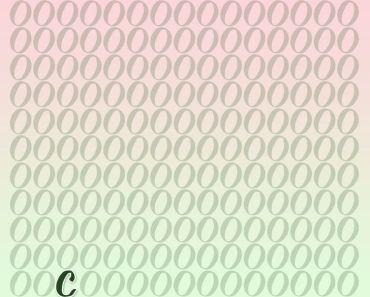 Hur snabbt kan du hitta bokstaven som sticker ut i bilden?
