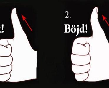 Vet du vad vinkeln på din tumme säger om din personlighet? Fantastiskt!
