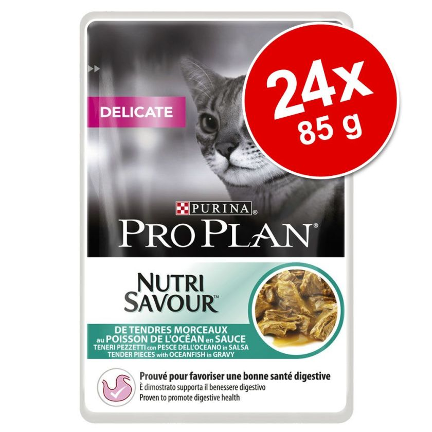 Lot Pro Plan 24 x 85 g pour chat - Delicate dinde