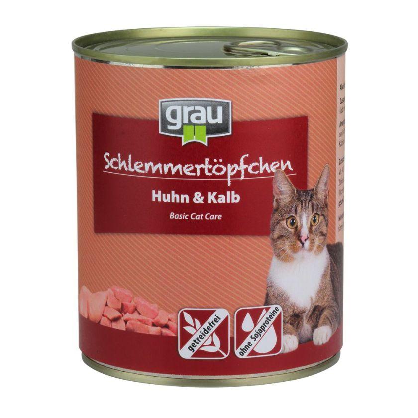 6x800 g menu gourmand sans céréales volaille, poisson Grau Nourriture pour chat