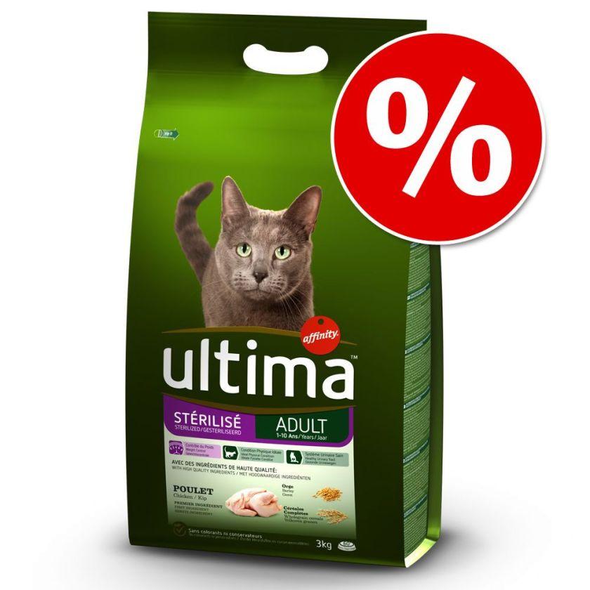 2x7,5kg Adult poulet Ultima - Croquettes pour chat
