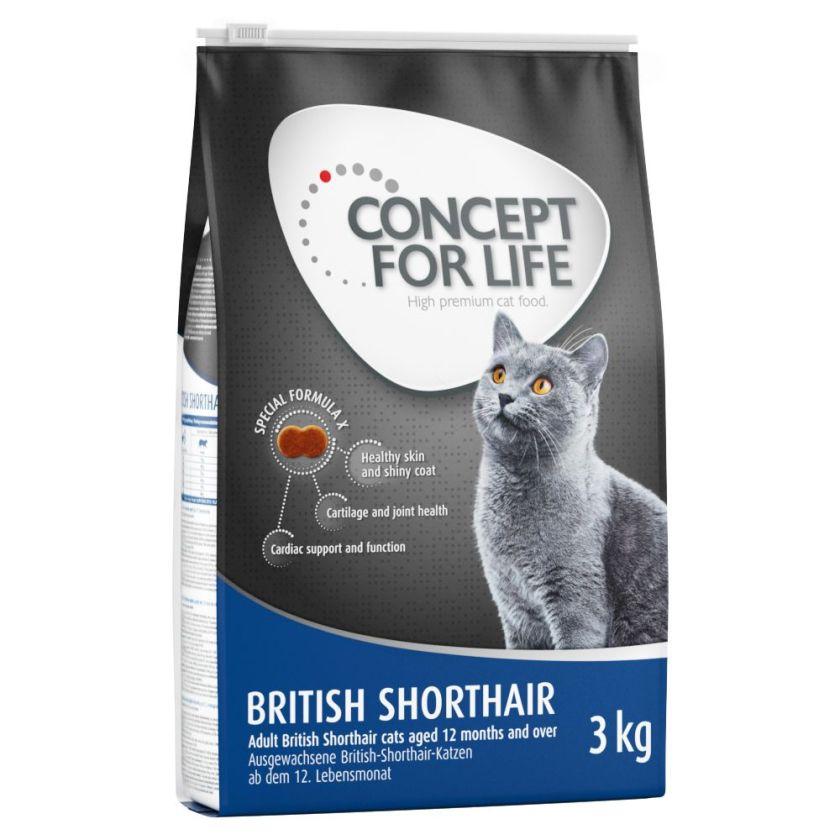 Concept for Life British Shorthair Adult pour chat - en complément : 12 x 85 g Concept for Life Beauty en sauce