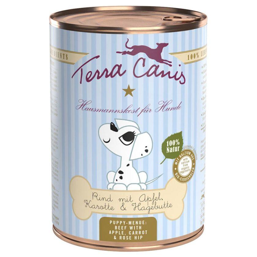 Terra Canis 6 x 400 g pour chiot - bœuf, pommes, carottes, cynorrhodon