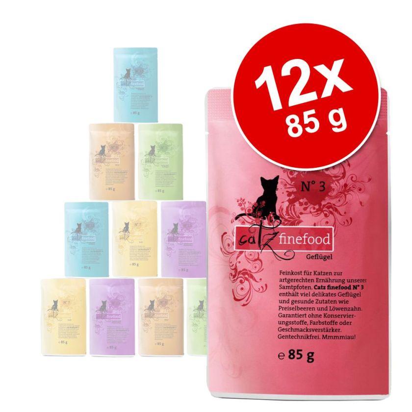 12x85g catz finefood sachets fraîcheur pour chat