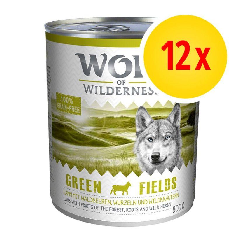 Lot Wolf of Wilderness Adulte 12 x 800 g - Oak Woods - gibier