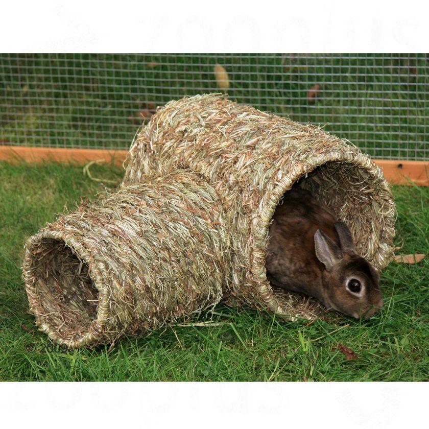 Double tunnel en herbe pour rongeur et lapin - 1 double tunnel