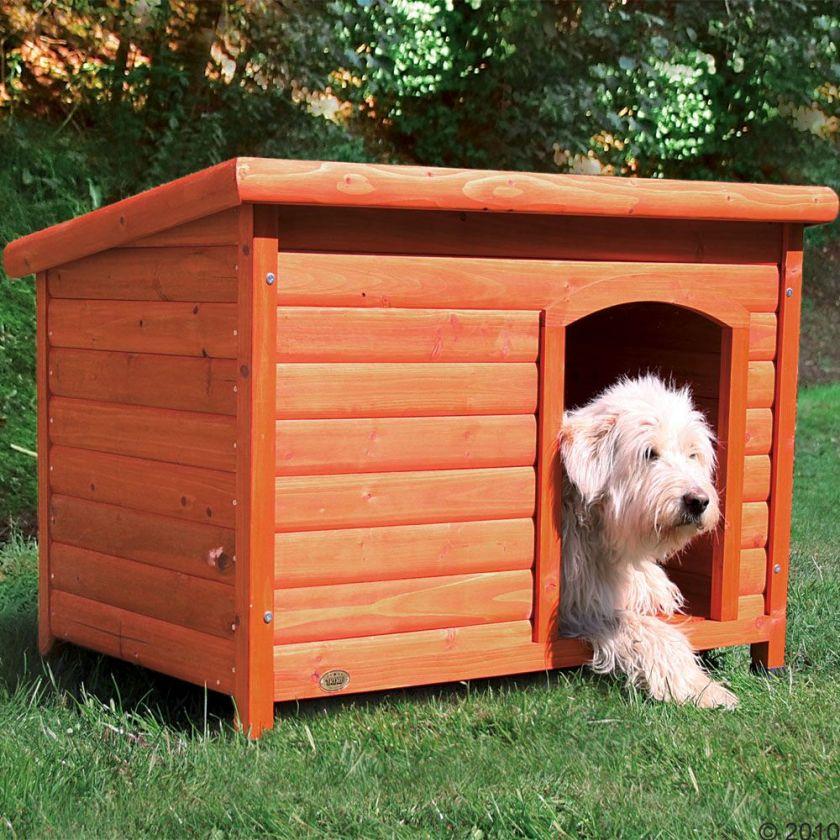 Niche Trixie Natura à toit plat pour chien - taille XL : l 116 x P 79 x H 82 cm