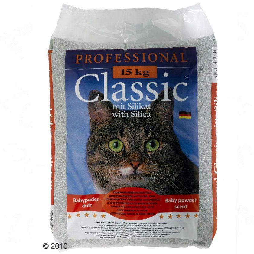 Litière Professional Classic, senteur talc pour chat - 15 kg
