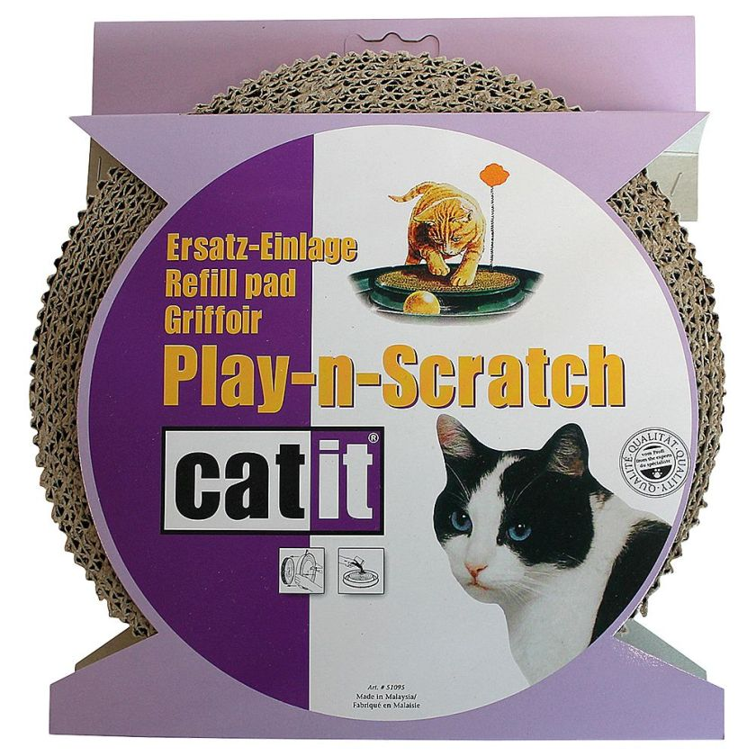 Griffoir de rechange pour jouet Catit Play-N-Scratch pour chat - 1 griffoir de rechange