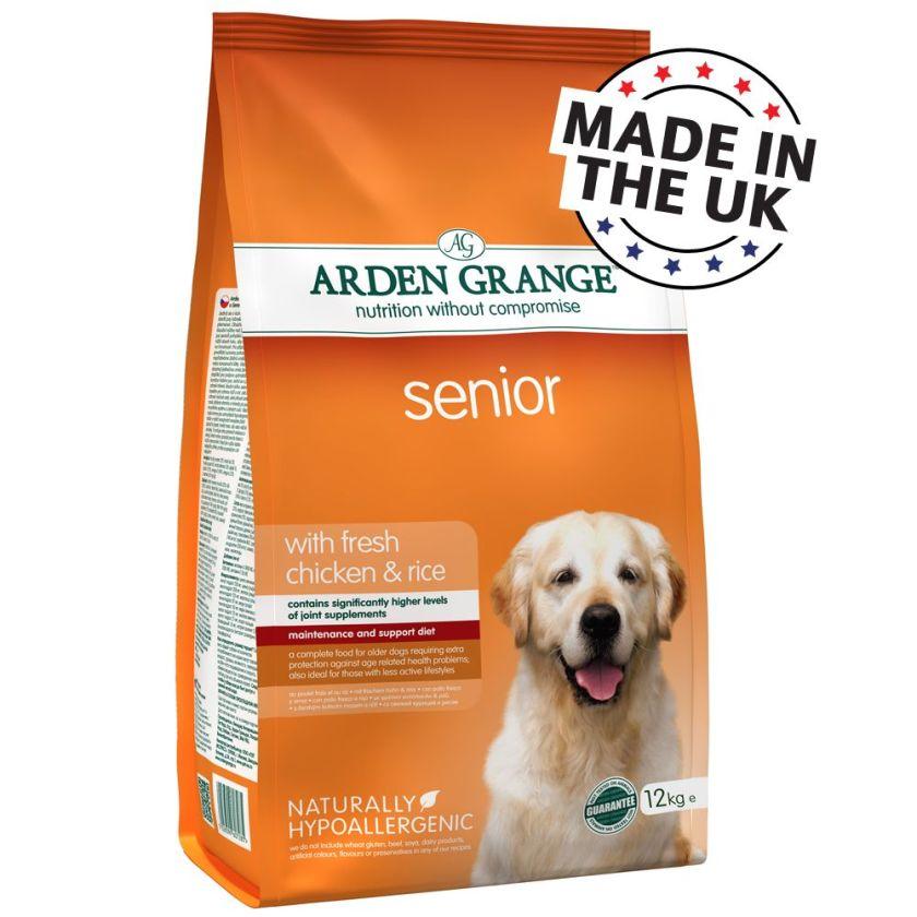 2x12kg Senior Arden Grange Poulet/riz Croquettes pour chien
