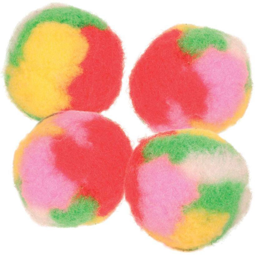 4 Balles pompons Trixie pour chat - Jouet pour chat