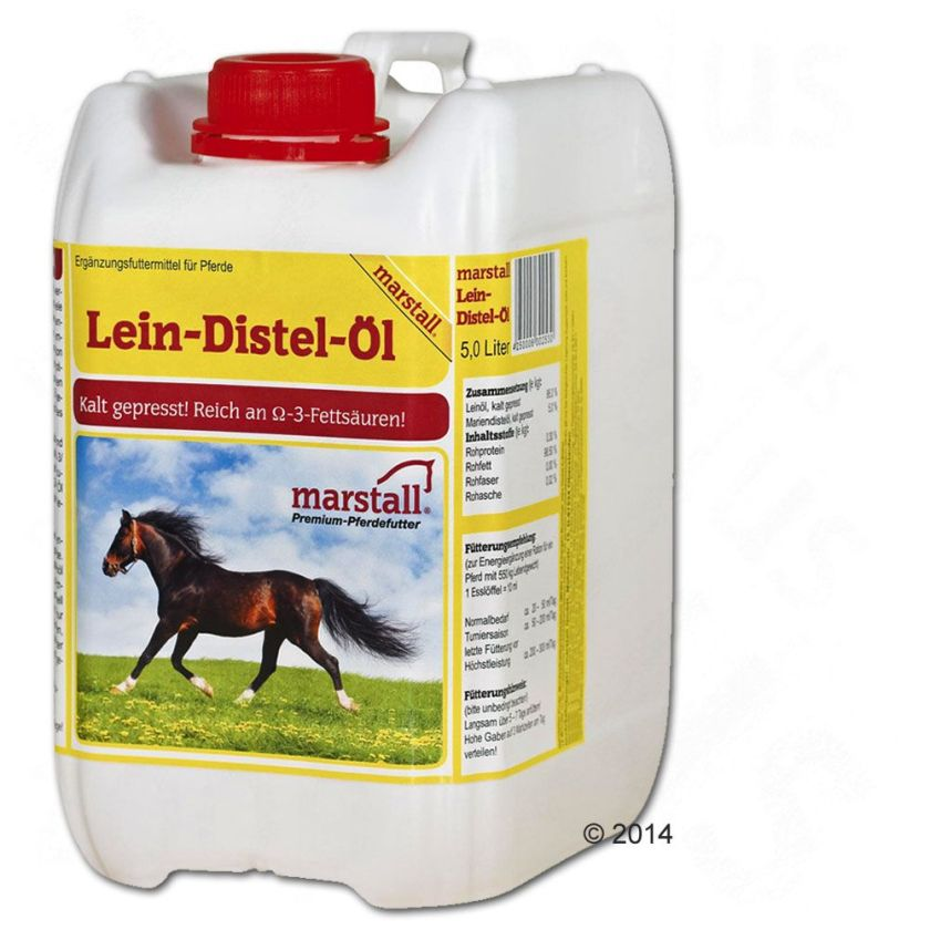 Huile de lin et chardon pour cheval Marstall - 2 x 5 litres