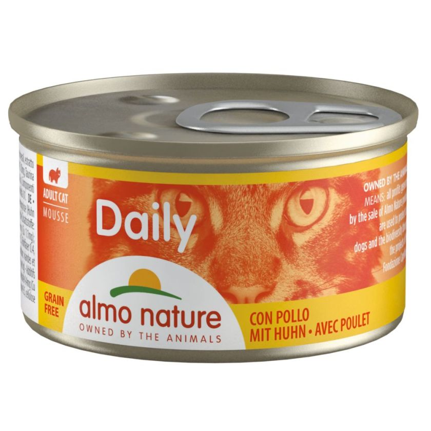 6x85g mousse au thon & poulet Almo Nature Daily Menu - Nourriture pour Chat